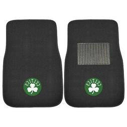 FANMATS 17611 NBA Boston Celtics 2-Piece Embroidered Car Mat