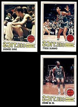 1977-78 Topps Boston Celtics Team Set NM