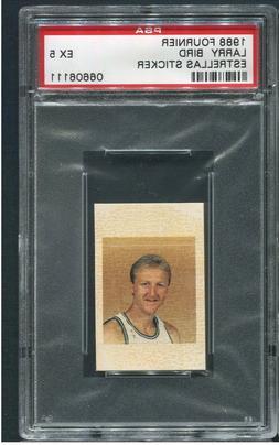 1988 Fournier Estrellas Sticker Larry Bird PSA 5 EX basketba