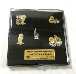 2008 NBA Finals World Champions Boston Celtics 5 Pin Set Box