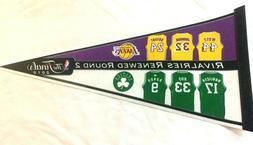 2010 NBA Finals Pennant Boston Celtics Los Angeles Lakers Ri