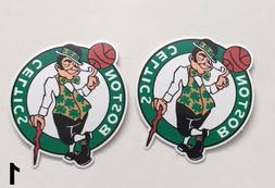 2x Boston Celtics Logo Car Bumper Laptop Wall Vinyl Die Cut