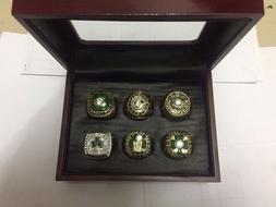 6pcs/set Boston Celtics Championship Rings Size 11 In wood B