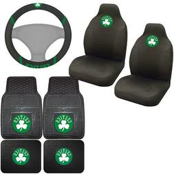 7pc Set NBA Boston Celtics Car Truck Seat Covers Floor Mats