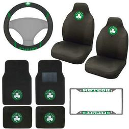 8pc NBA Boston Celtics Car Truck Seat Covers Floor Mats Stee