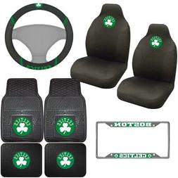 8pc Set NBA Boston Celtics Car Truck Seat Covers Floor Mats