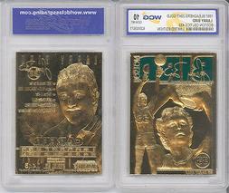 '97 LARRY BIRD BOSTON CELTICS 23K GOLD CARD GEM MINT 10