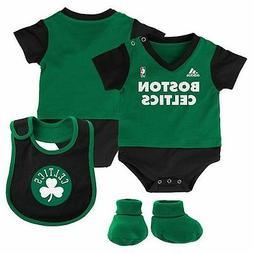 baby boston celtics creeper bodysuit bib