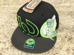Black Green 47 Brand Hard Wood Classics Boston Celtics Snap