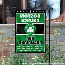 Boston Celtics 17 Time Champions Garden Flag and Yard Banner