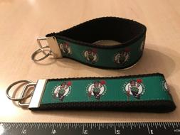"Boston Celtics -  5"" x 1.25"" Key Fob  Wristlet"