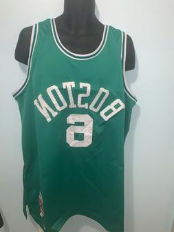 Boston Celtics 6 Bill Russell NBA Hardwood Classic Light Gre