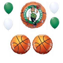 Boston Celtics 7 Piece Balloon Bouquet Birthday Party Decora