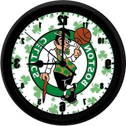 "Boston Celtics 8"" EXCLUSIVE Homemade Wall Clock w/ Battery,"