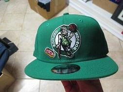 "BOSTON CELTICS ""NEW ERA 9FIFTY"" BASEBALL HAT  SNAPBACK GREEN"