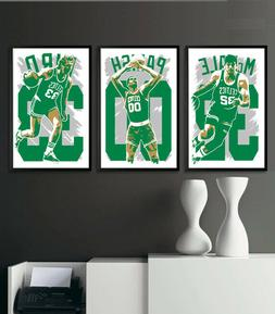 BOSTON CELTICS art print/poster FAN PACK #1 3 PRINTS! LARRY