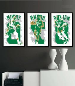 BOSTON CELTICS art print/poster FAN PACK #2 3 PRINTS! KEMBA