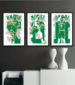 BOSTON CELTICS art print/poster FAN PACK #1 3 PRINTS! KYRIE