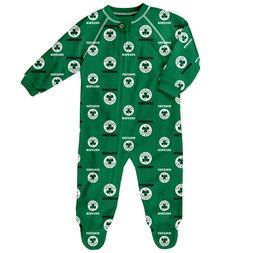 Boston Celtics Baby Infant One-Piece Zippered Coverall Sleep