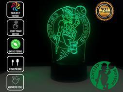 BOSTON CELTICS BASKETBALL Night Light 3D Acrylic LED 7 Colou