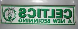 Boston Celtics Basketball A New Beginning Bumper Sticker Dec