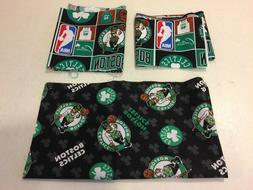 Boston Celtics Basketball Cotton Fabric Scraps Remnants