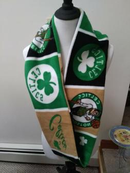 Boston Celtics Basketball Infinity Scarf Fleece Single Loop
