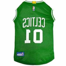 Pets First Boston Celtics Basketball Mesh Jersey for Dogs