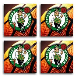 Boston Celtics Basketball Rubber Square Coaster set  SRC2031