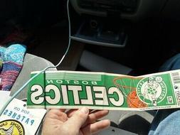 BOSTON CELTICS  Basketball    Vintage 1970's   Bumper Sticke