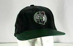 Boston Celtics Black/Green Leather NBA Baseball Cap Snapback