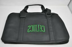 BOSTON CELTICS Black Weekender Bag Faux Leather Carry on Tra