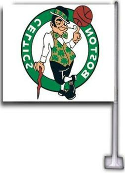 BOSTON CELTICS CAR FLAGS 2 SIDED 12X18 HI-WAY STRONG