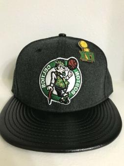 Boston Celtics Champions Pin 59Fifty New Era Fitted Baseball