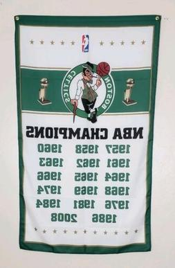 Boston Celtics Championship Banner 3x5 Flag Man Cave Decor N