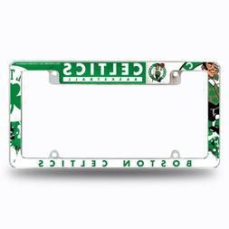 Boston Celtics Chrome ALL OVER Premium License Plate Frame C
