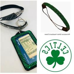 Boston Celtics Color Rhinestone Fan Pack