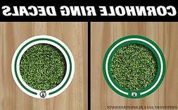 Boston Celtics  Cornhole Ring Hole Decal Set! +2 FREE Team L