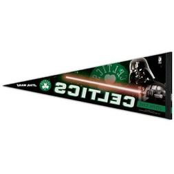 "BOSTON CELTICS DARTH VADER STAR WARS PREMIUM PENNANT 12""X30"""