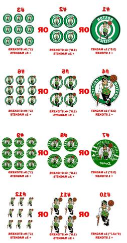 Boston Celtics Decal magnets stickers pc Car Sport Fridge ps