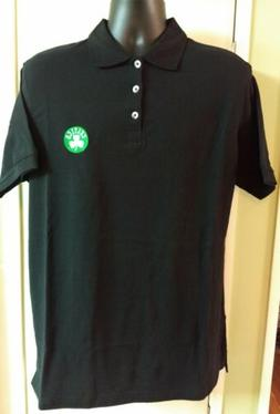 Boston Celtics Antigua Embroidered Black Polo Golf Shirt NWO
