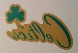 """Boston Celtics FATHEAD Official Team Graphic 13.5""""x6"""" NBA Wa"""
