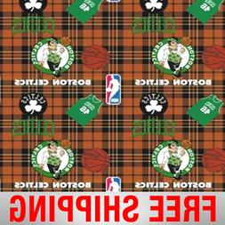 "Boston Celtics Fleece Fabric - 60"" Wide - Style# 5005 - Free"