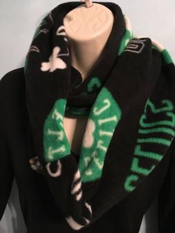 Boston Celtics Fleece Infinity Scarf Handmade Sewn Double La