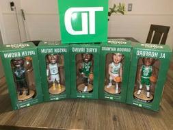 Boston Celtics full set Bobbleheads from TD Garden Jaylen Ta