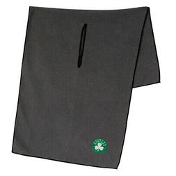"BOSTON CELTICS GRAY MICROFIBER WAFFLE GOLF TOWEL 19""X41"" NEW"