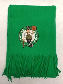 Boston Celtics Green Cashmere Feel Fringed Scarf w/ heat app