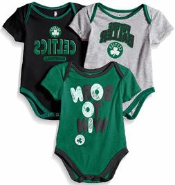 Boston Celtics Infant & Toddler  Little Fan 3 Pack Creeper S