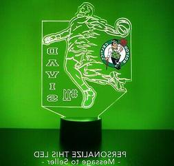 Boston Celtics Night Light, Personalized FREE, LED Basketbal