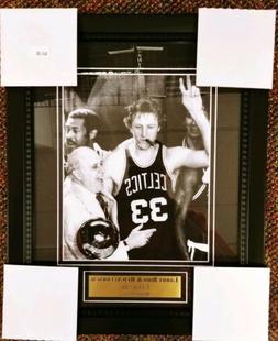 Boston Celtics Legends Larry Bird Red Auerbach Framed Wall P